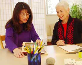 An Active Learning tutor refines her skills with a pro.